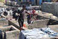 Mumbai: Wäscherei unter freiem Himmel